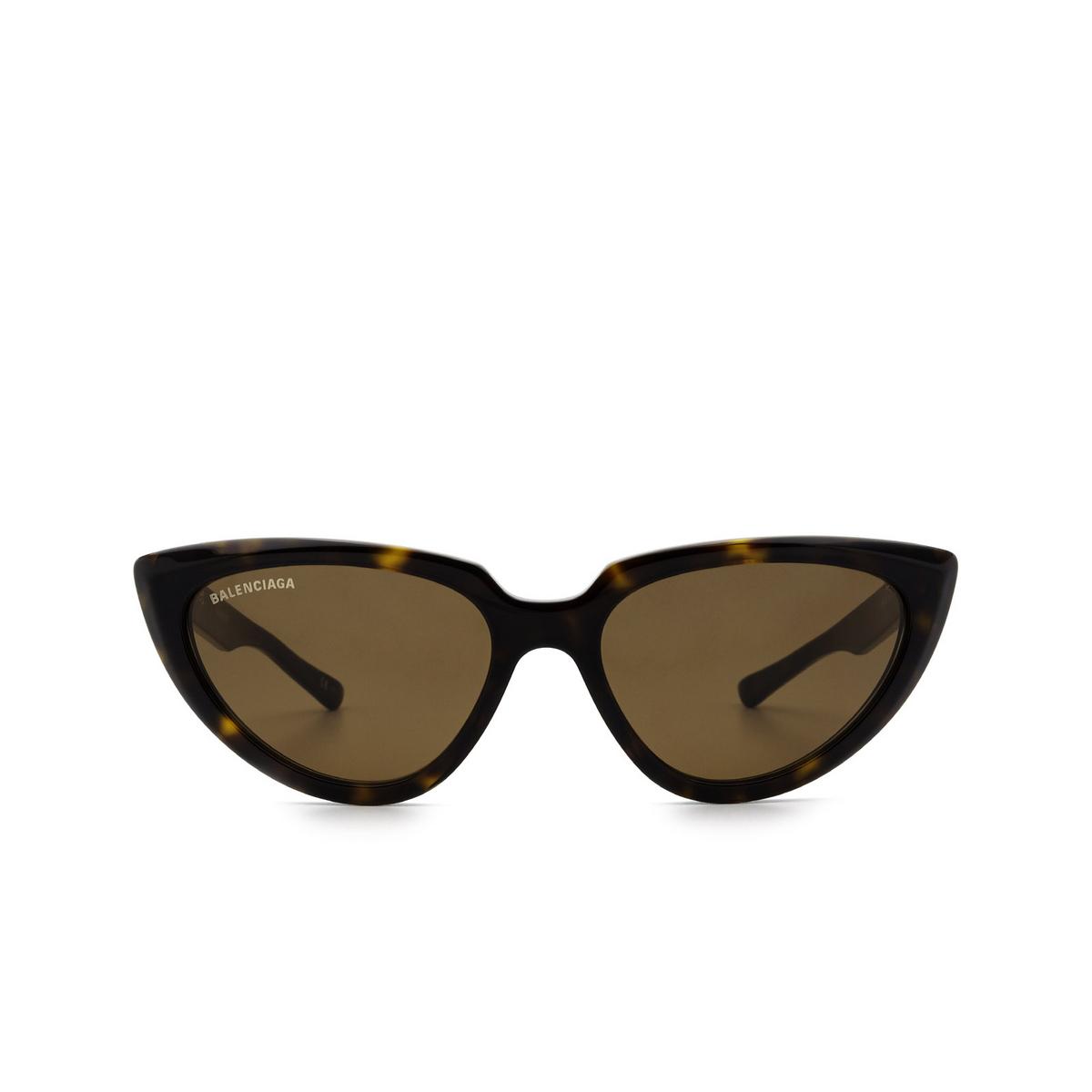 Balenciaga® Cat-eye Sunglasses: BB0182S color Havana 002 - front view.