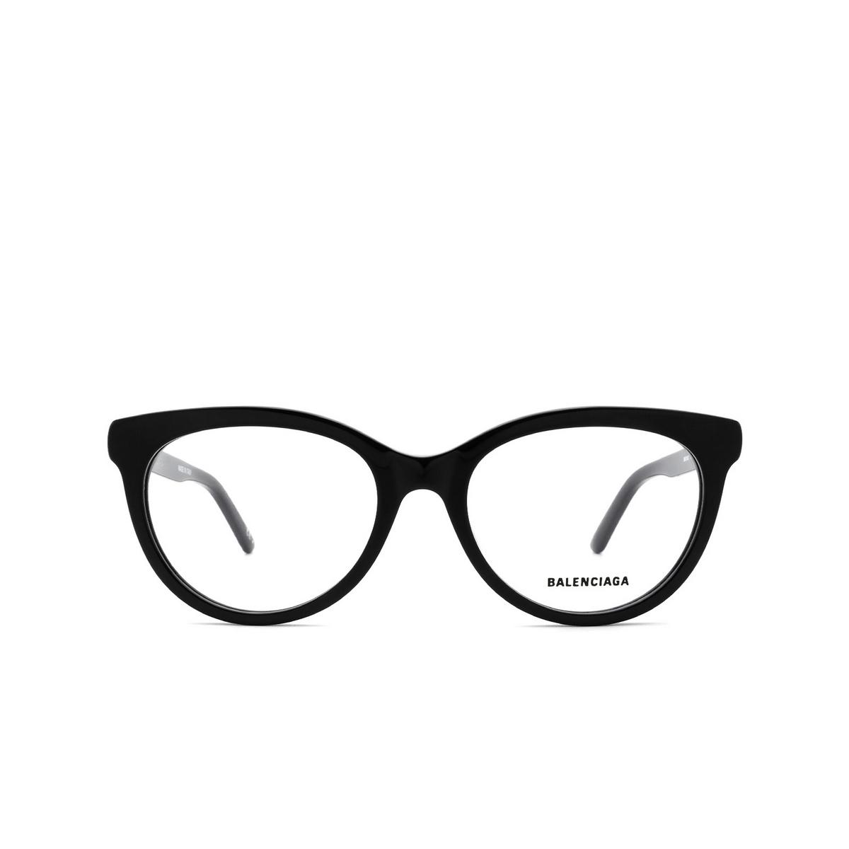 Balenciaga® Cat-eye Eyeglasses: BB0185O color Black 001 - front view.