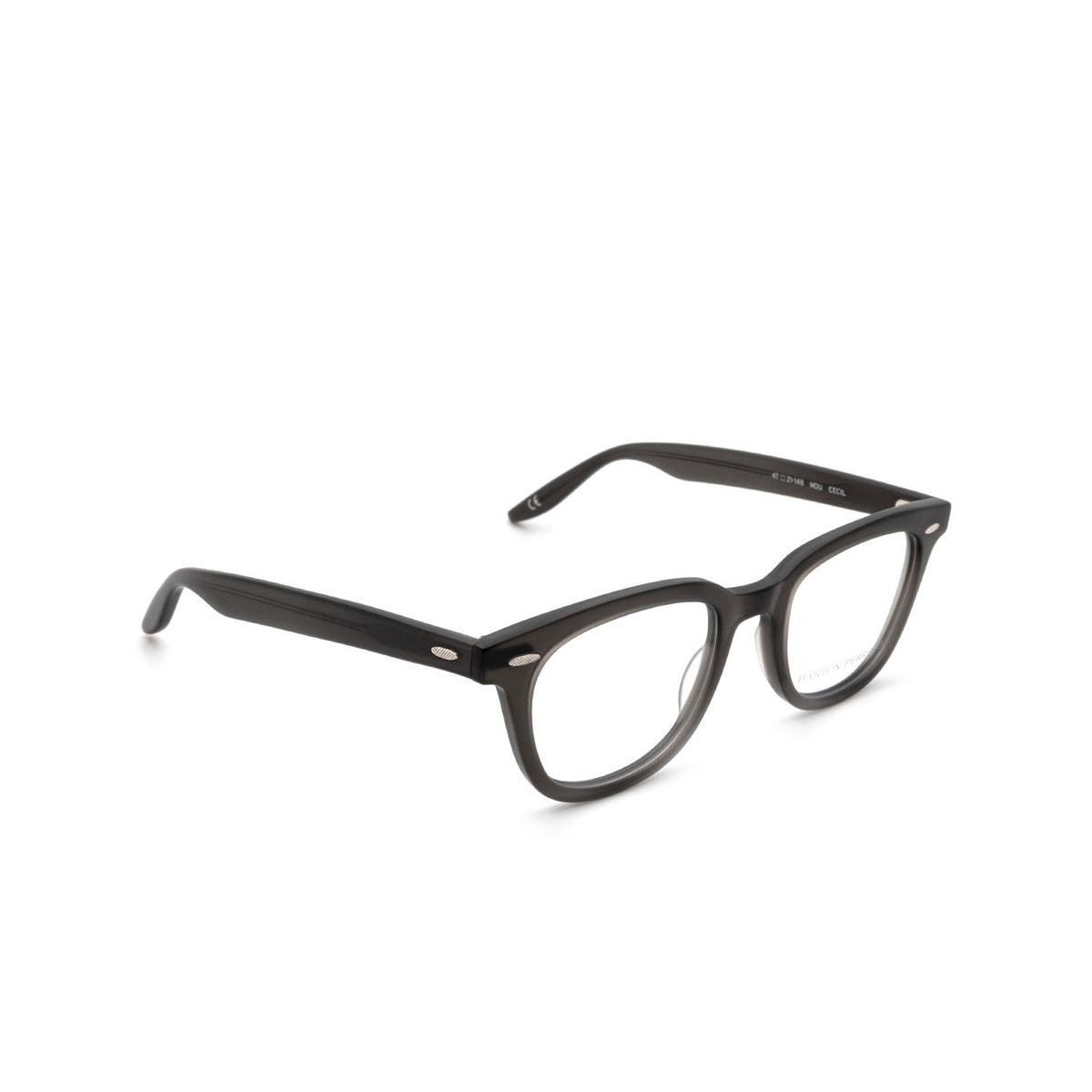 Barton Perreira® Square Eyeglasses: Cecil BP5273 color Grey 1KV - three-quarters view.
