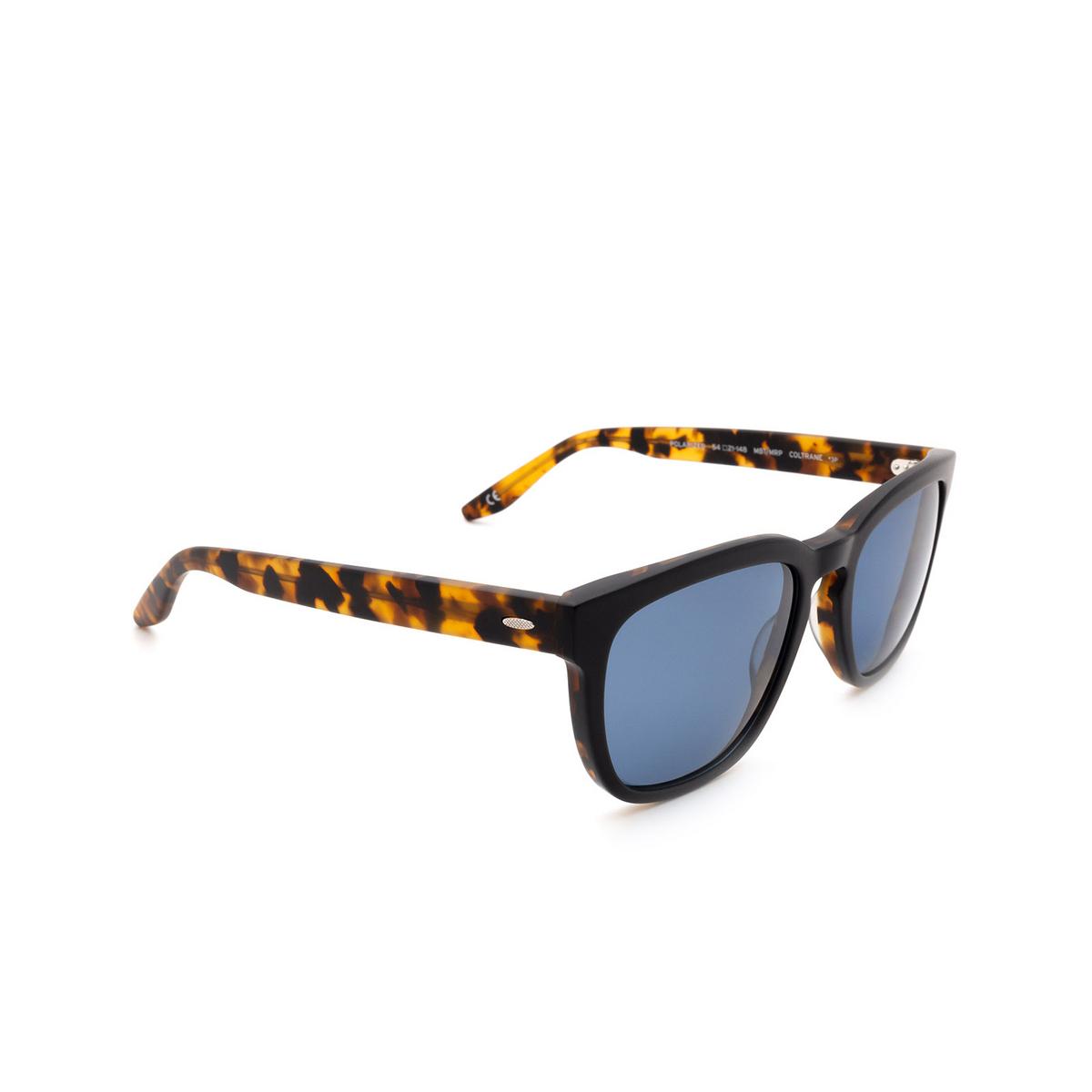 Barton Perreira® Square Sunglasses: Coltrane BP0013 color Matte Black & Tortoise 1HZ.