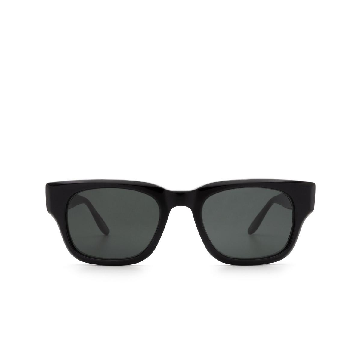 Barton Perreira® Rectangle Sunglasses: Domino BP0109 color Black 0HH.