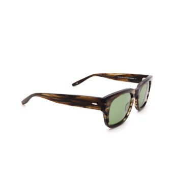 Barton Perreira® Rectangle Sunglasses: Domino BP0109 color Striped Havana 2EP.