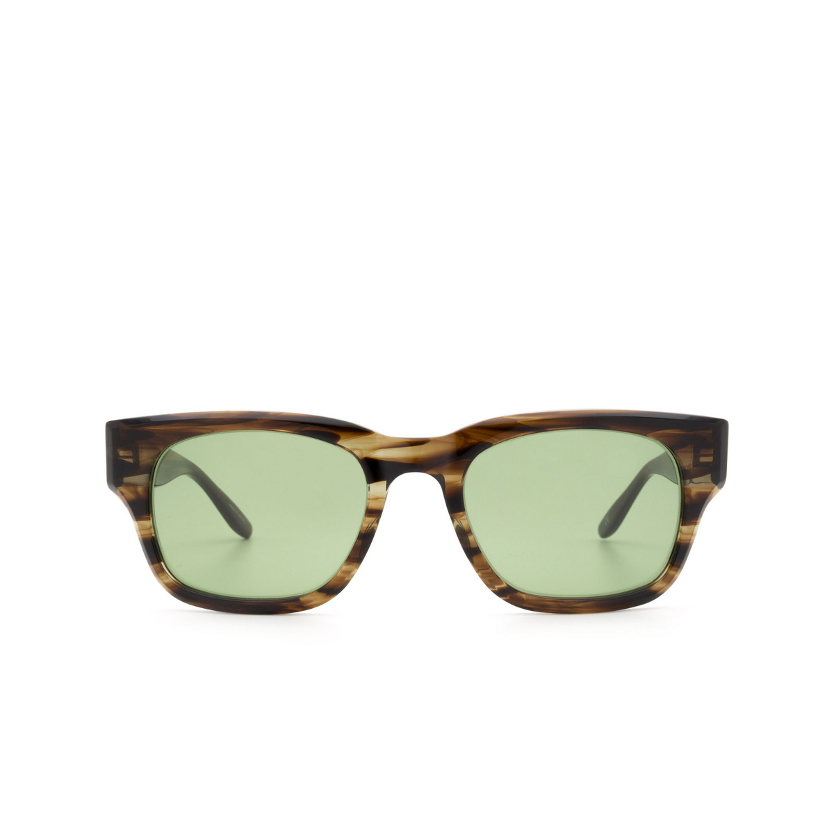 Barton Perreira® Rectangle Sunglasses: Domino BP0109 color Striped Havana 2EP.