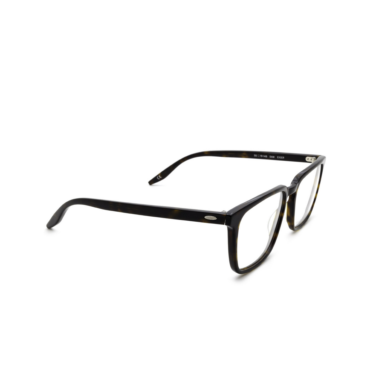 Barton Perreira® Rectangle Eyeglasses: Eiger BP5054 color Dark Walnut 0PE - three-quarters view.