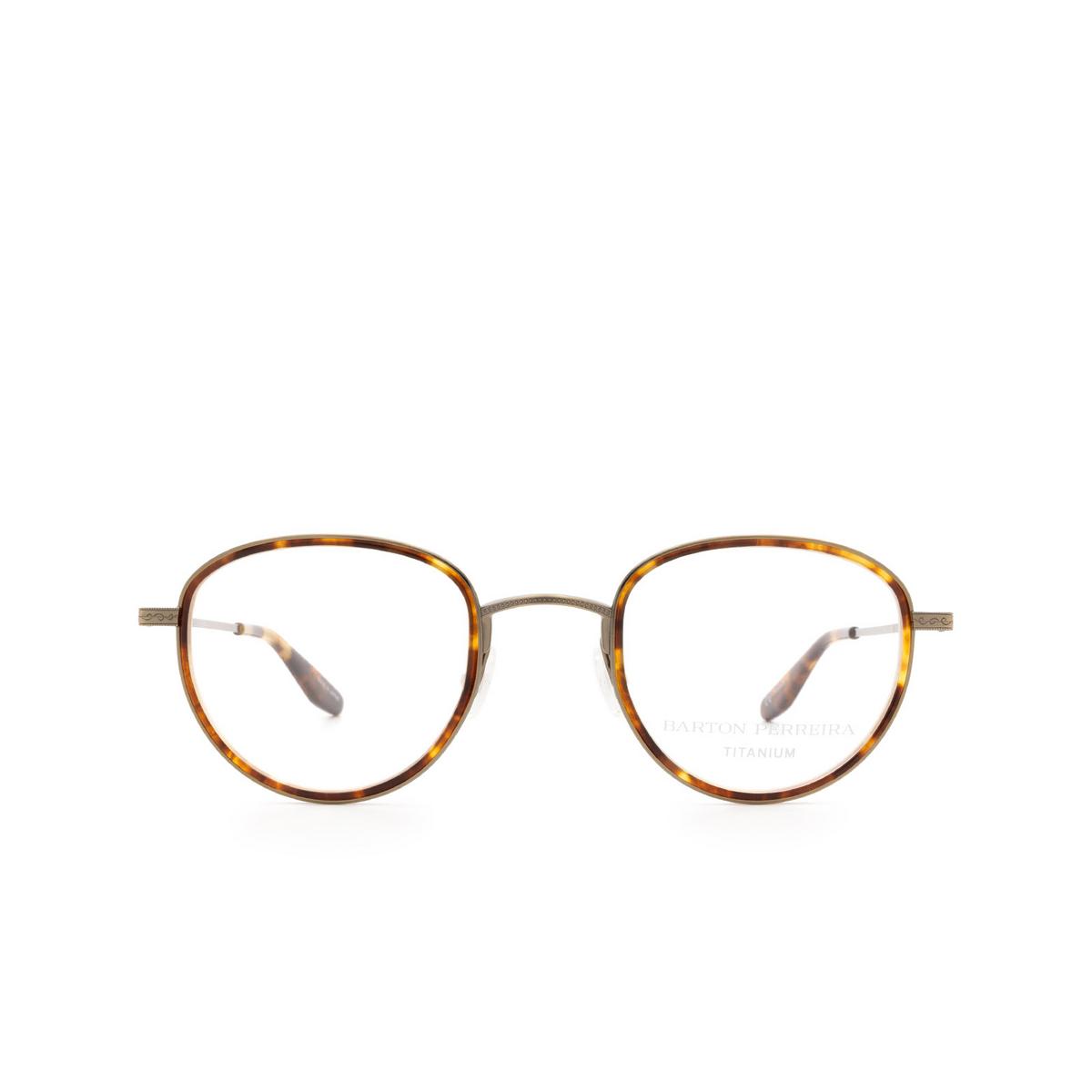 Barton Perreira® Round Eyeglasses: Esky BP5279 color Chestnut Antique Gold 0LZ - front view.