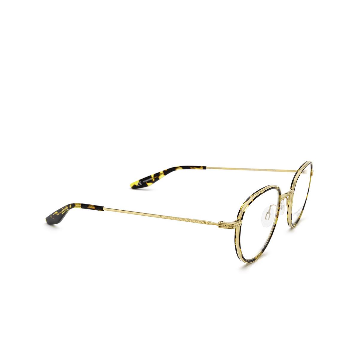 Barton Perreira® Round Eyeglasses: Esky BP5279 color Gold Heroine Chic 1AJ - three-quarters view.
