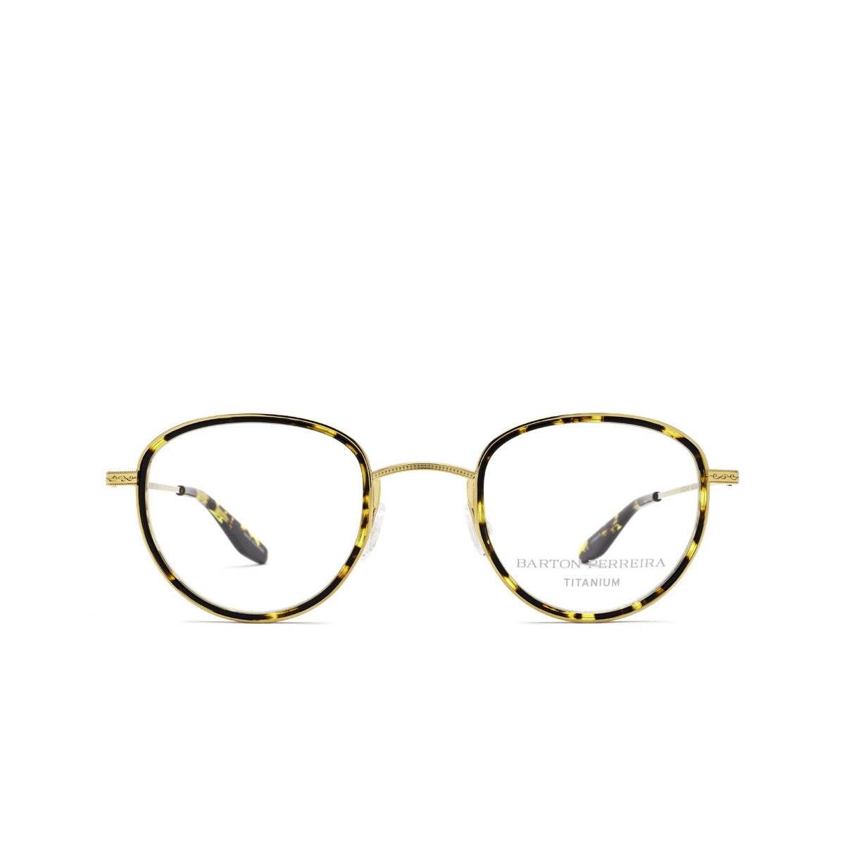 Barton Perreira® Round Eyeglasses: Esky BP5279 color Gold Heroine Chic 1AJ - front view.