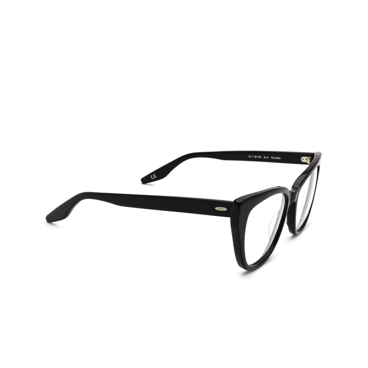 Barton Perreira® Cat-eye Eyeglasses: Falana BP5275 color Black 0EJ - three-quarters view.