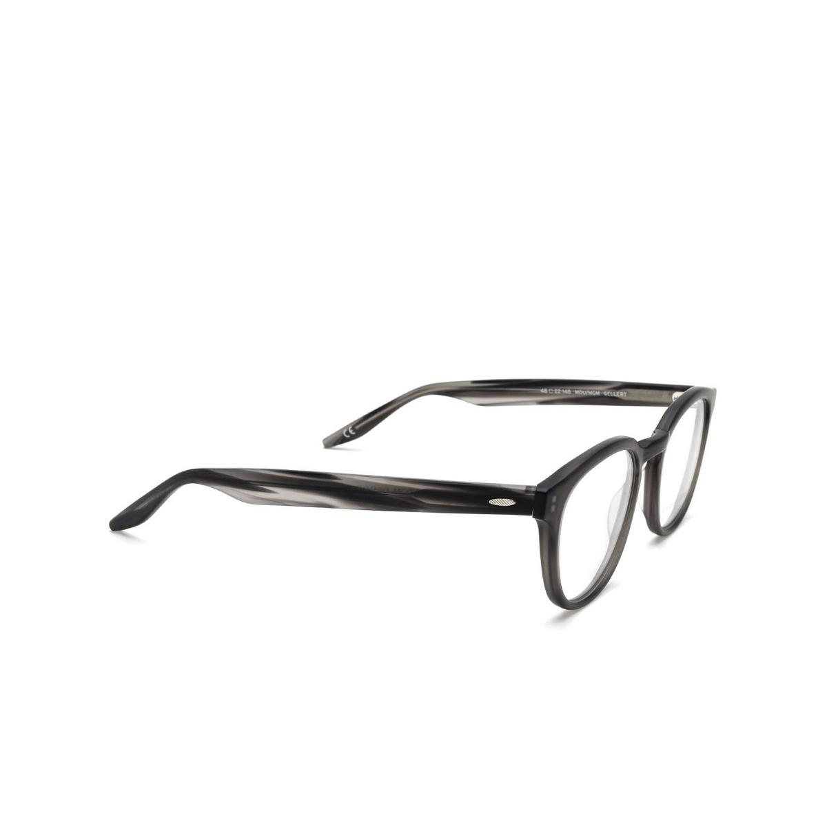 Barton Perreira® Square Eyeglasses: Gellert BP5027 color Matte Dusk Matte Grey 1KX - three-quarters view.