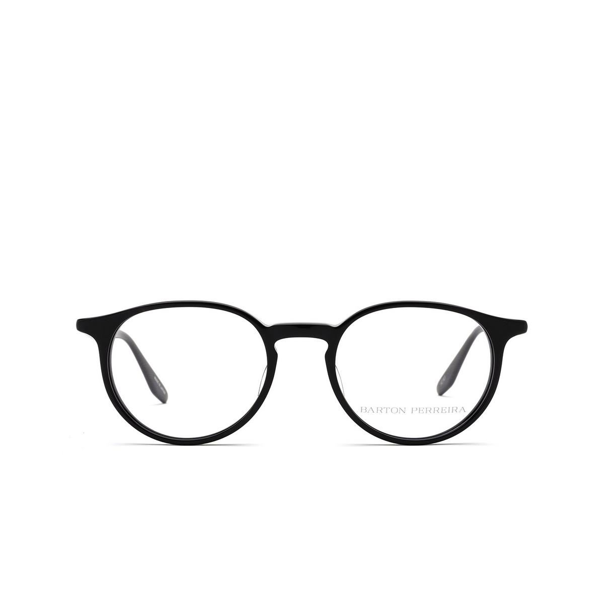 Barton Perreira® Round Eyeglasses: Norton BP5043 color Black 0EJ - front view.