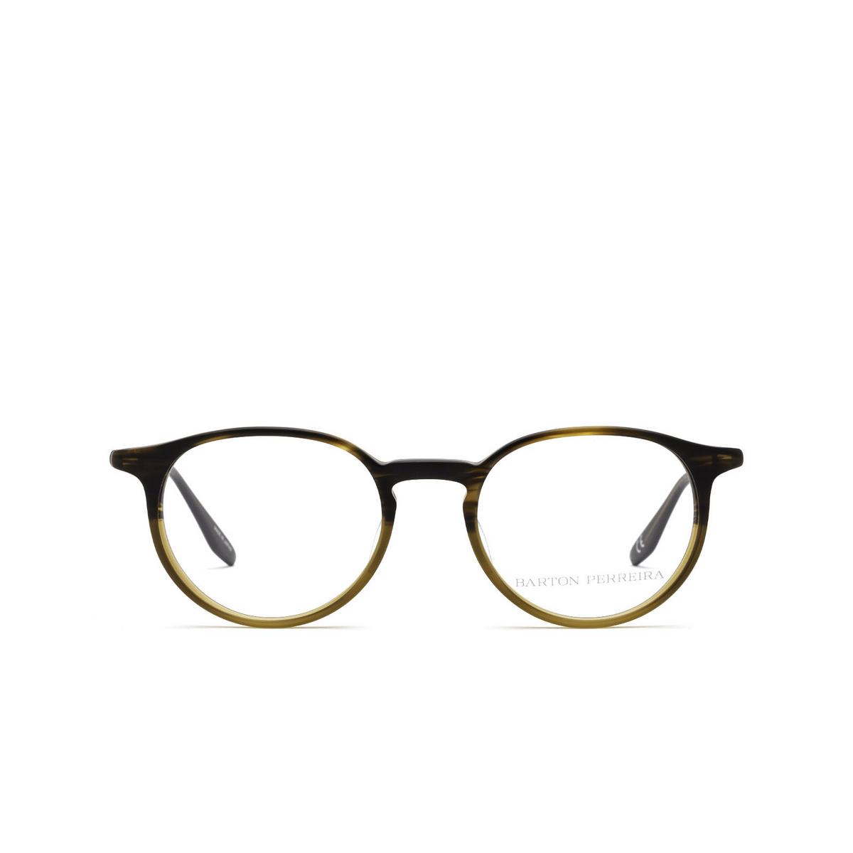 Barton Perreira® Round Eyeglasses: Norton BP5043 color Matte Tortuga Gradient 1PZ - front view.