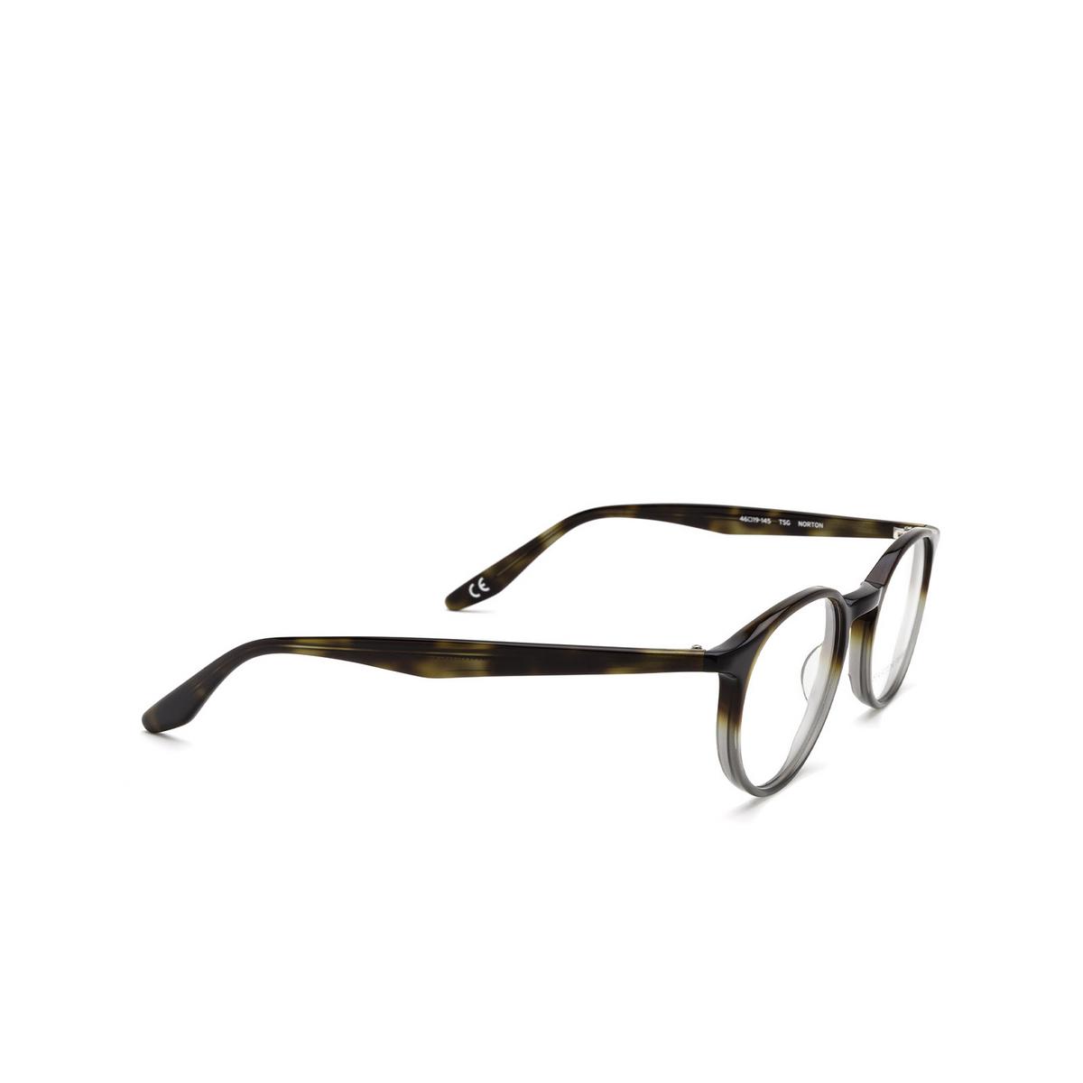 Barton Perreira® Round Eyeglasses: Norton BP5043 color Tortoise Stone Gradient 2HR - three-quarters view.