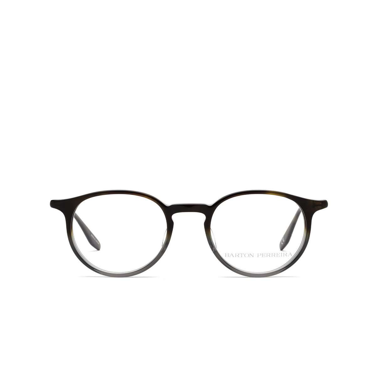 Barton Perreira® Round Eyeglasses: Norton BP5043 color Tortoise Stone Gradient 2HR - front view.