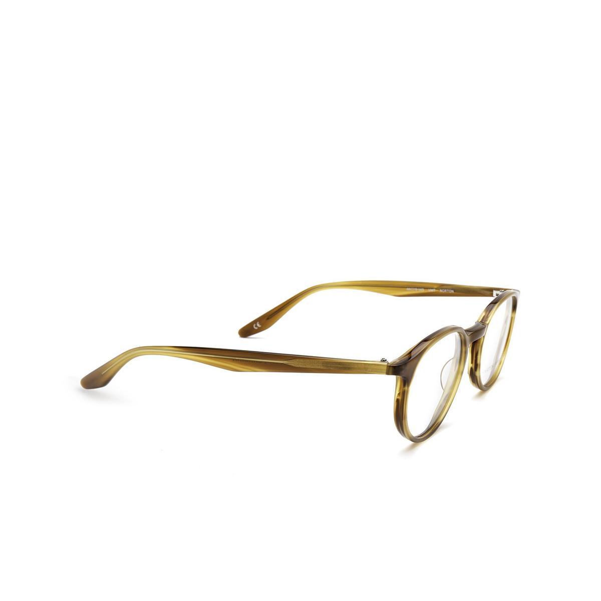 Barton Perreira® Round Eyeglasses: Norton BP5043 color Umber Tortoise 2IC - three-quarters view.