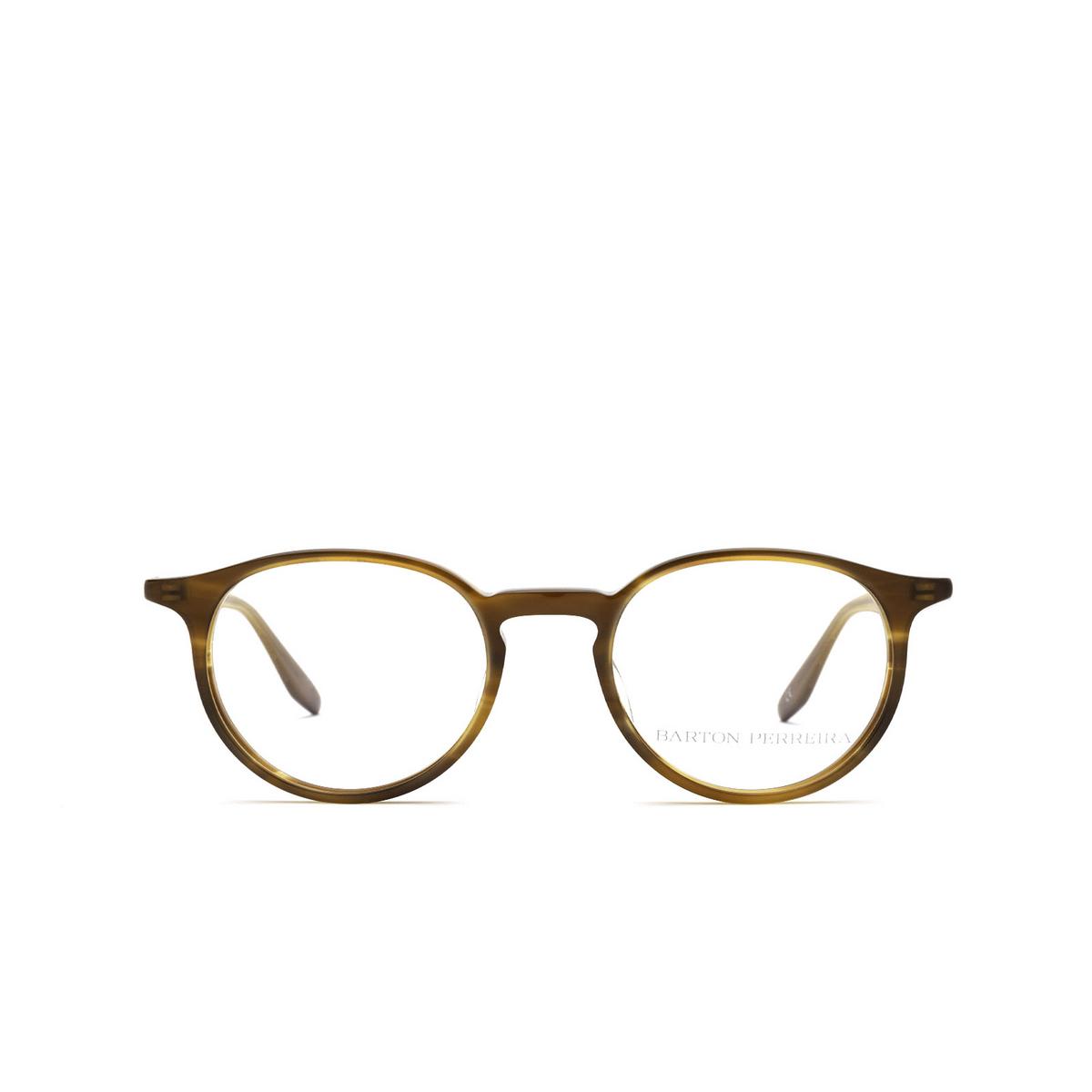 Barton Perreira® Round Eyeglasses: Norton BP5043 color Umber Tortoise 2IC - front view.
