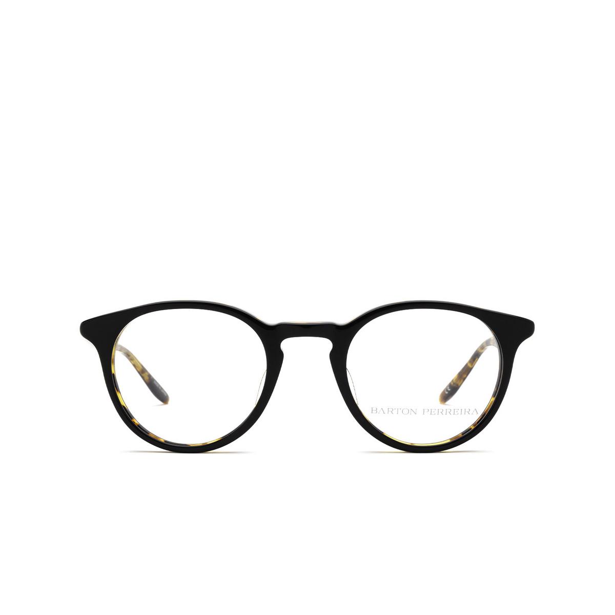 Barton Perreira® Round Eyeglasses: Princeton BP5045 color Black Amber Tortoise 0CK - front view.