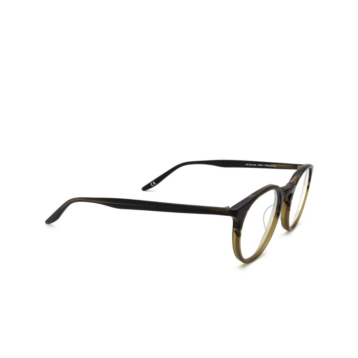 Barton Perreira® Round Eyeglasses: Princeton BP5045 color Matte Tortuga Gradient 1QG - three-quarters view.