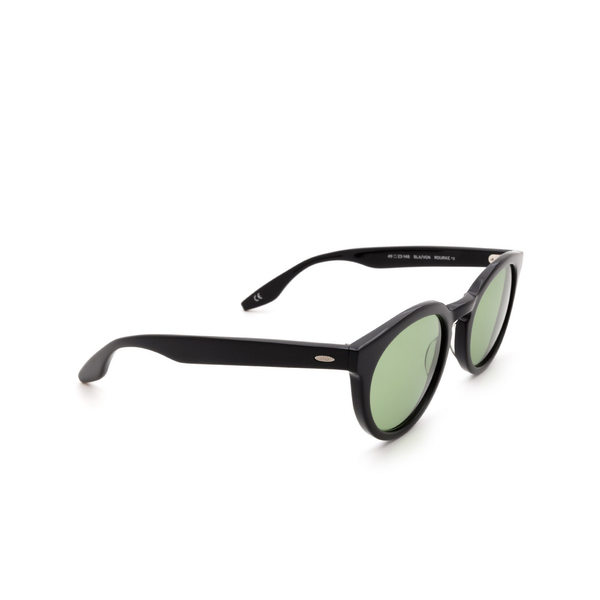 Barton Perreira® Round Sunglasses: Rourke BP0115 color Black 0HG.