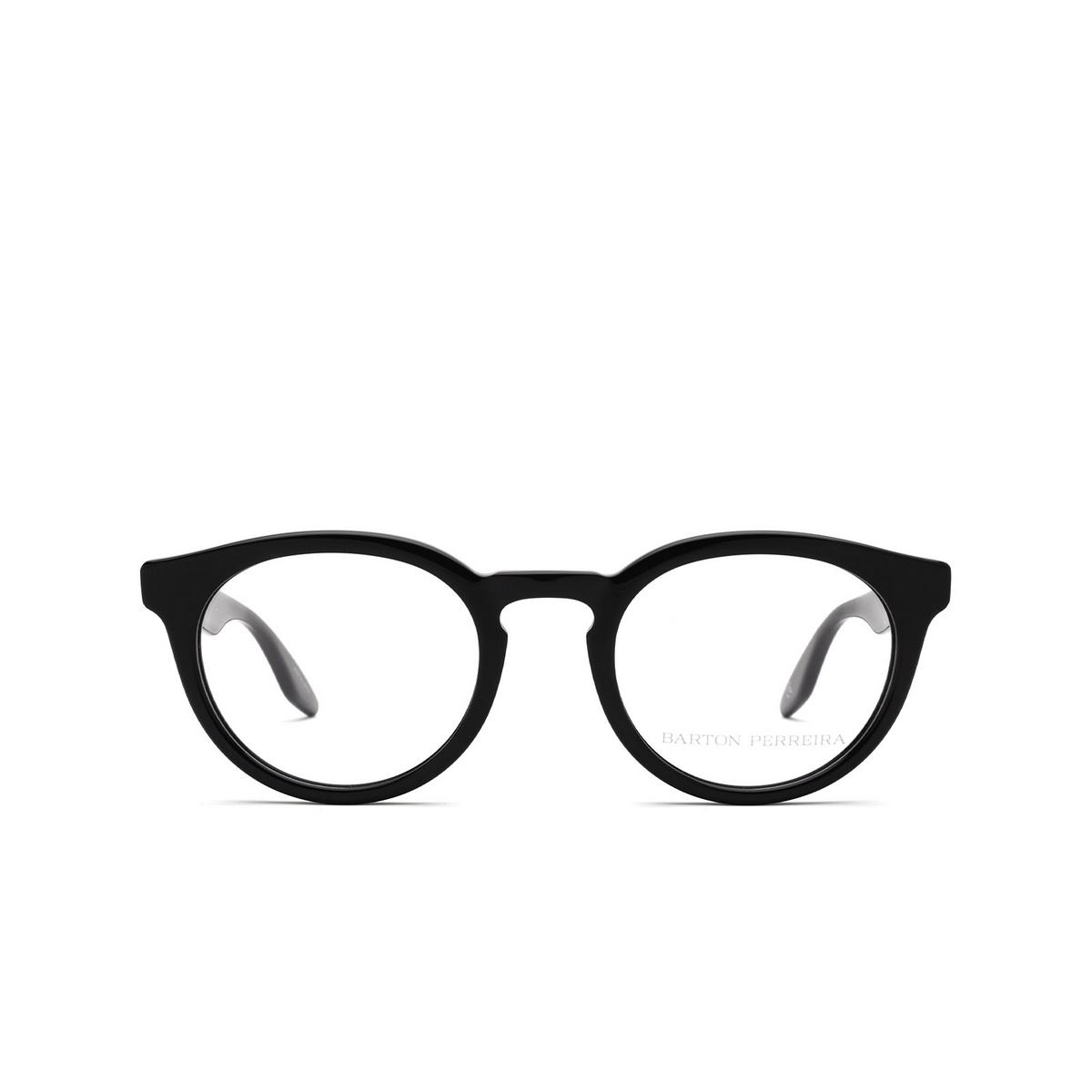 Barton Perreira® Round Eyeglasses: Rourke BP5199 color Black 0EJ - front view.