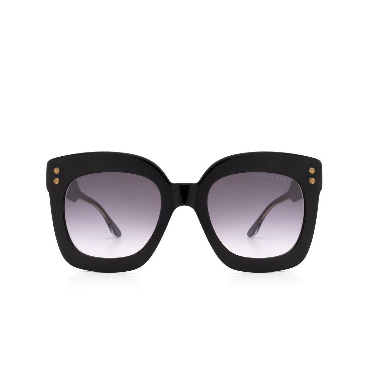 Bottega Veneta® Square Sunglasses: BV0238S color Black 001 - front view.
