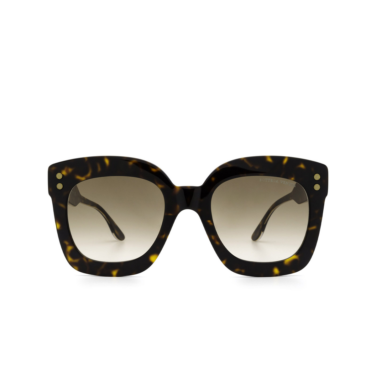 Bottega Veneta® Square Sunglasses: BV0238S color Havana 002 - front view.