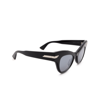 Bottega Veneta® Cat-eye Sunglasses: BV1004S color Black 006.