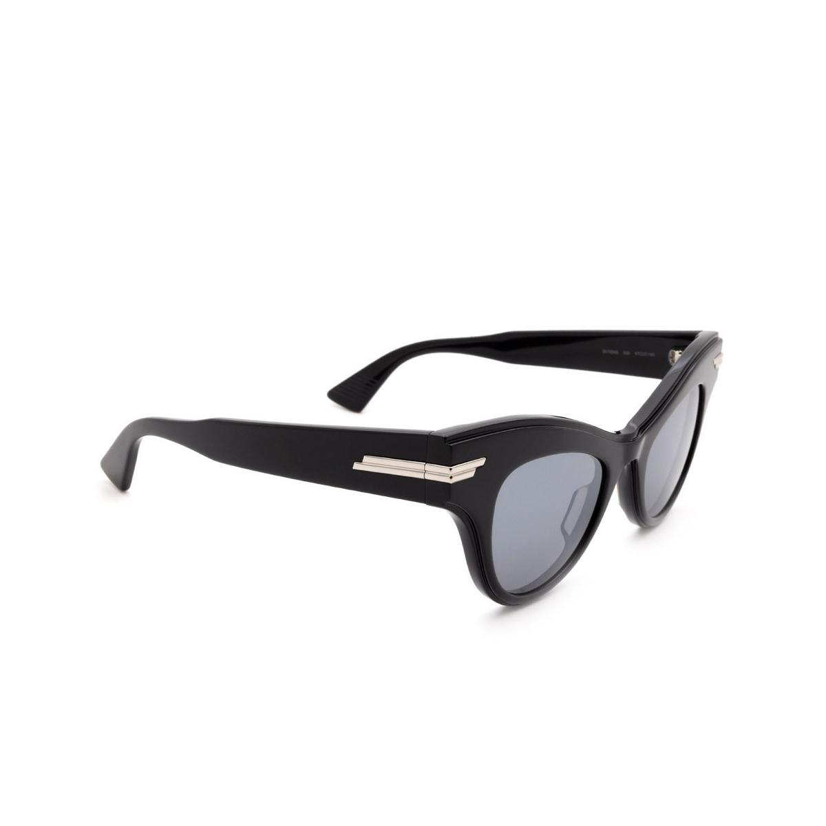 Bottega Veneta® Cat-eye Sunglasses: BV1004S color Black 006.
