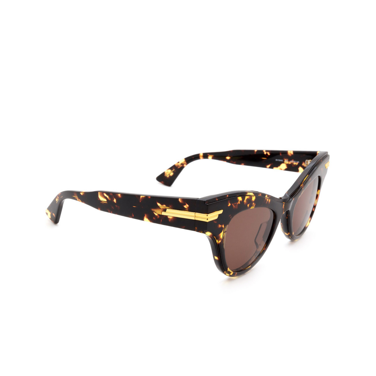 Bottega Veneta® Cat-eye Sunglasses: BV1004S color Havana 007.