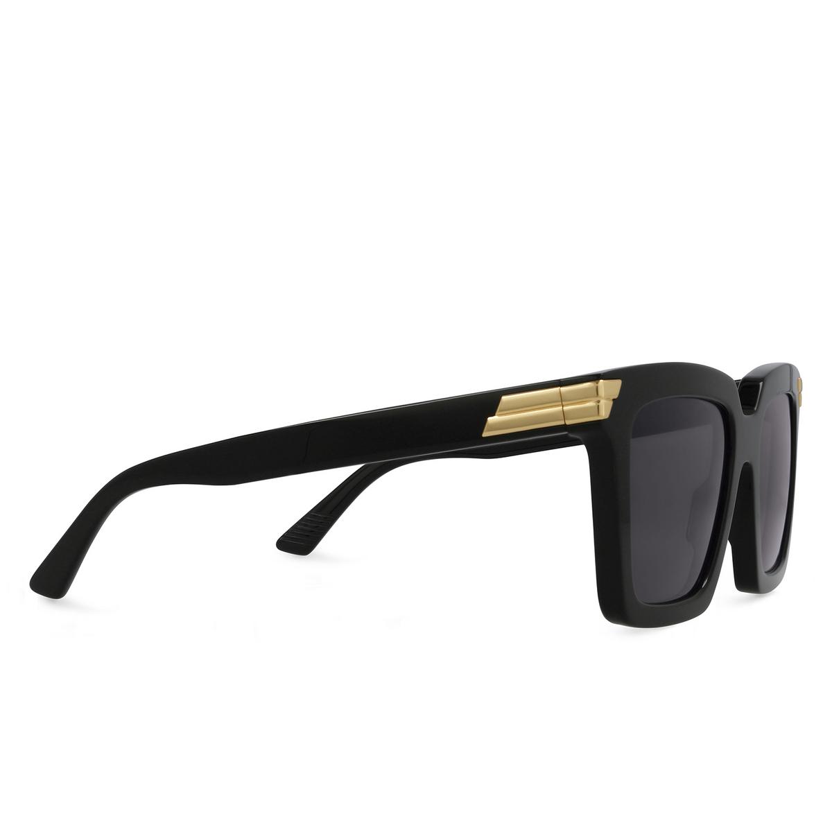 Bottega Veneta® Square Sunglasses: BV1005S color Black 001 - three-quarters view.