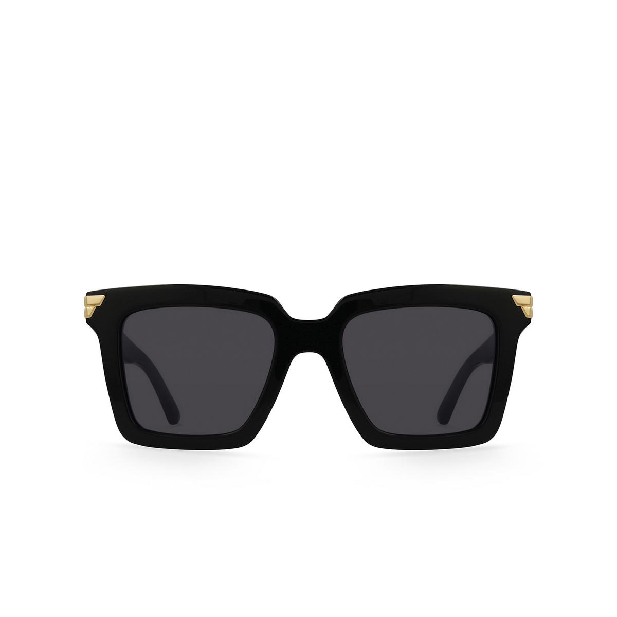 Bottega Veneta® Square Sunglasses: BV1005S color Black 001 - front view.