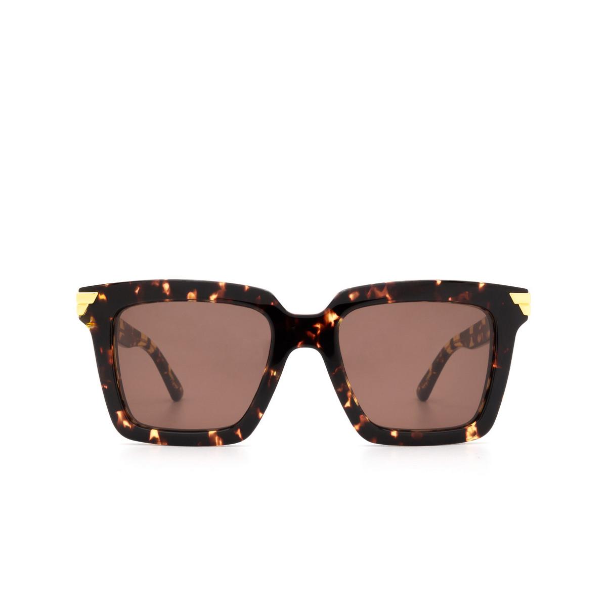 Bottega Veneta® Square Sunglasses: BV1005S color Havana 002 - front view.