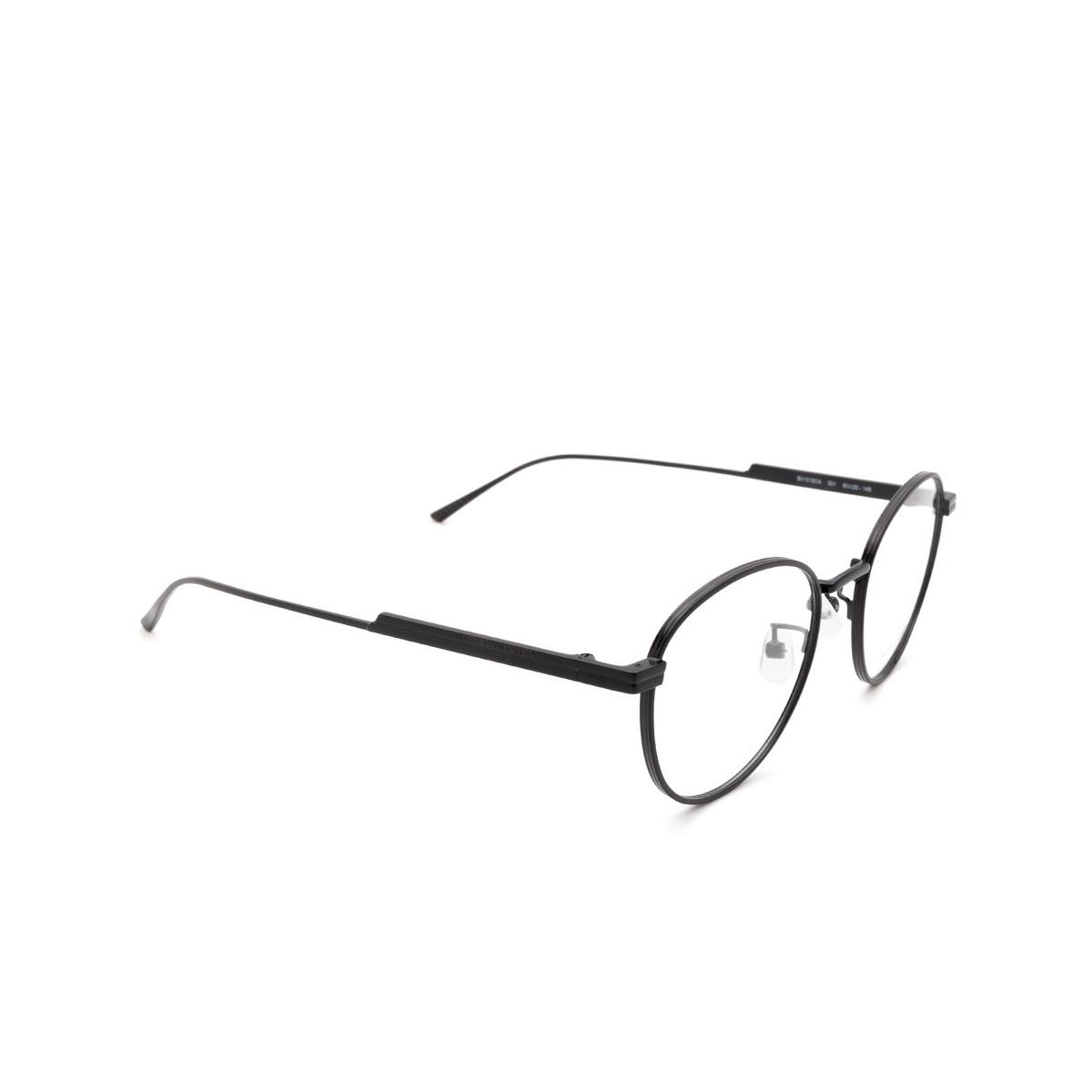 Bottega Veneta® Round Eyeglasses: BV1016OA color Black 001 - three-quarters view.