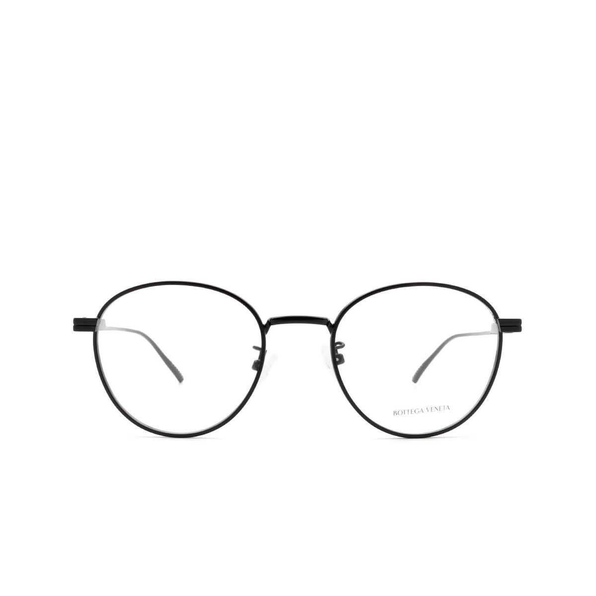 Bottega Veneta® Round Eyeglasses: BV1016OA color Black 001 - front view.