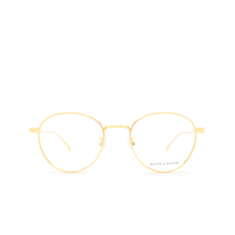 Bottega Veneta® Round Eyeglasses: BV1016OA color Gold 002.