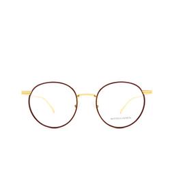 Bottega Veneta® Eyeglasses: BV1017O color Burgundy & Gold 004.