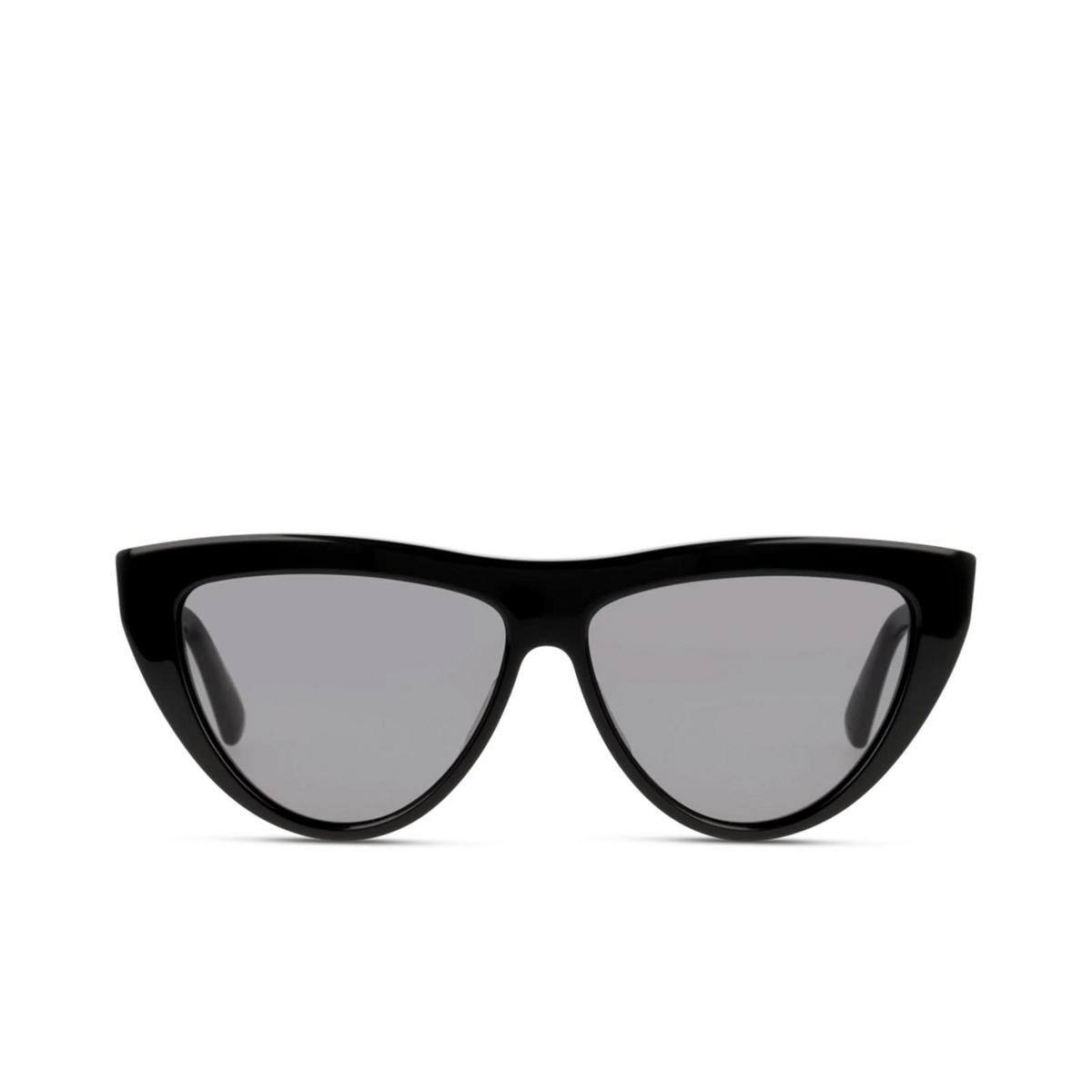 Bottega Veneta® Cat-eye Sunglasses: BV1018S color Black 001 - front view.