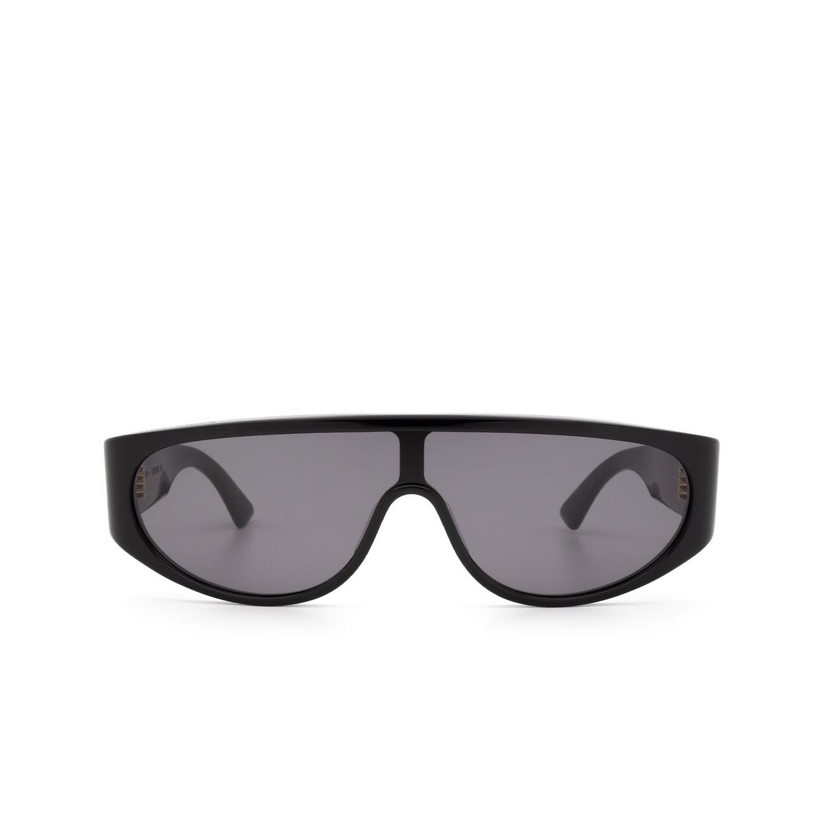 Bottega Veneta® Mask Sunglasses: BV1027S color Black 001.