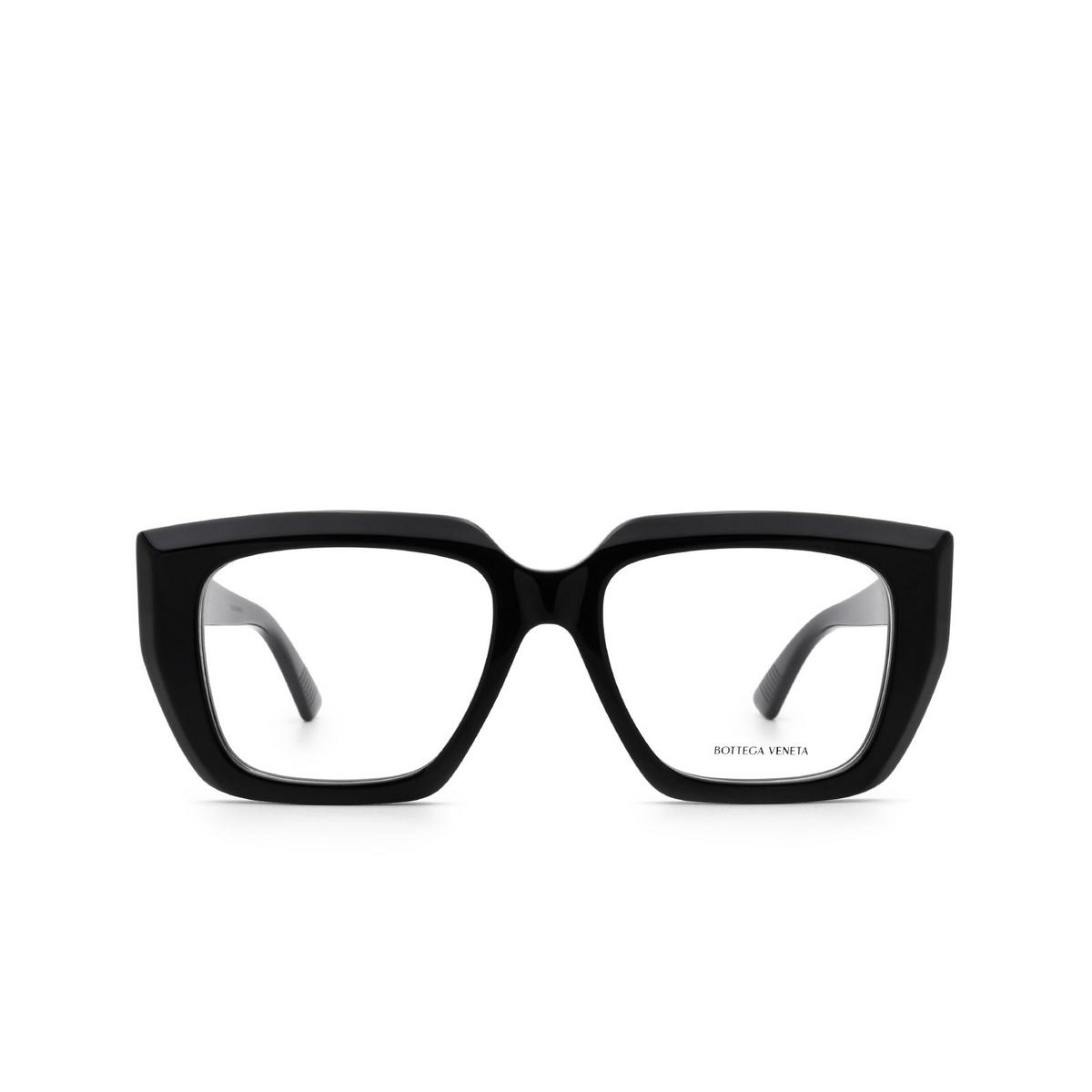 Bottega Veneta® Square Eyeglasses: BV1032O color Black 001 - front view.