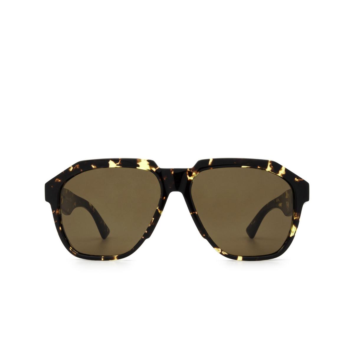 Bottega Veneta® Aviator Sunglasses: BV1034S color Havana 002 - front view.