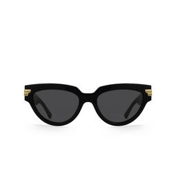 Bottega Veneta® Cat-eye Sunglasses: BV1035S color Black 001.