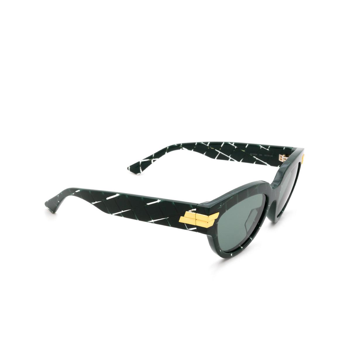 Bottega Veneta® Cat-eye Sunglasses: BV1035S color Green 004 - 2/3.