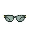 Bottega Veneta® Cat-eye Sunglasses: BV1035S color Green 004 - product thumbnail 1/3.