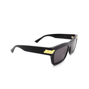 Bottega Veneta® Rectangle Sunglasses: BV1058S color Black 001.