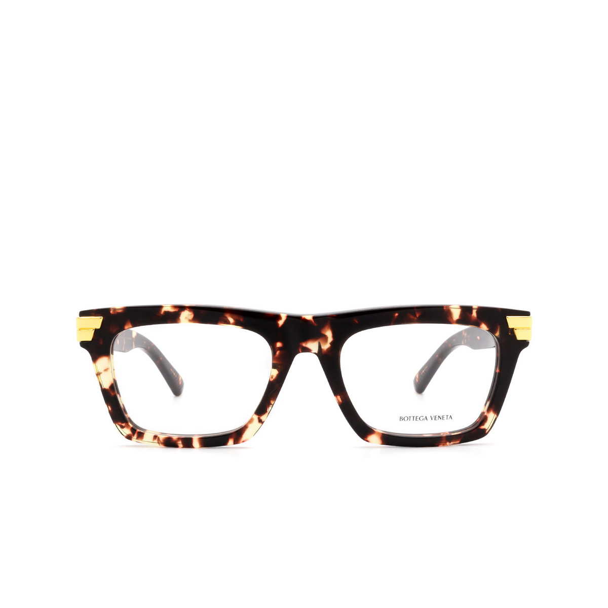 Bottega Veneta® Square Eyeglasses: BV1059O color Havana 002.