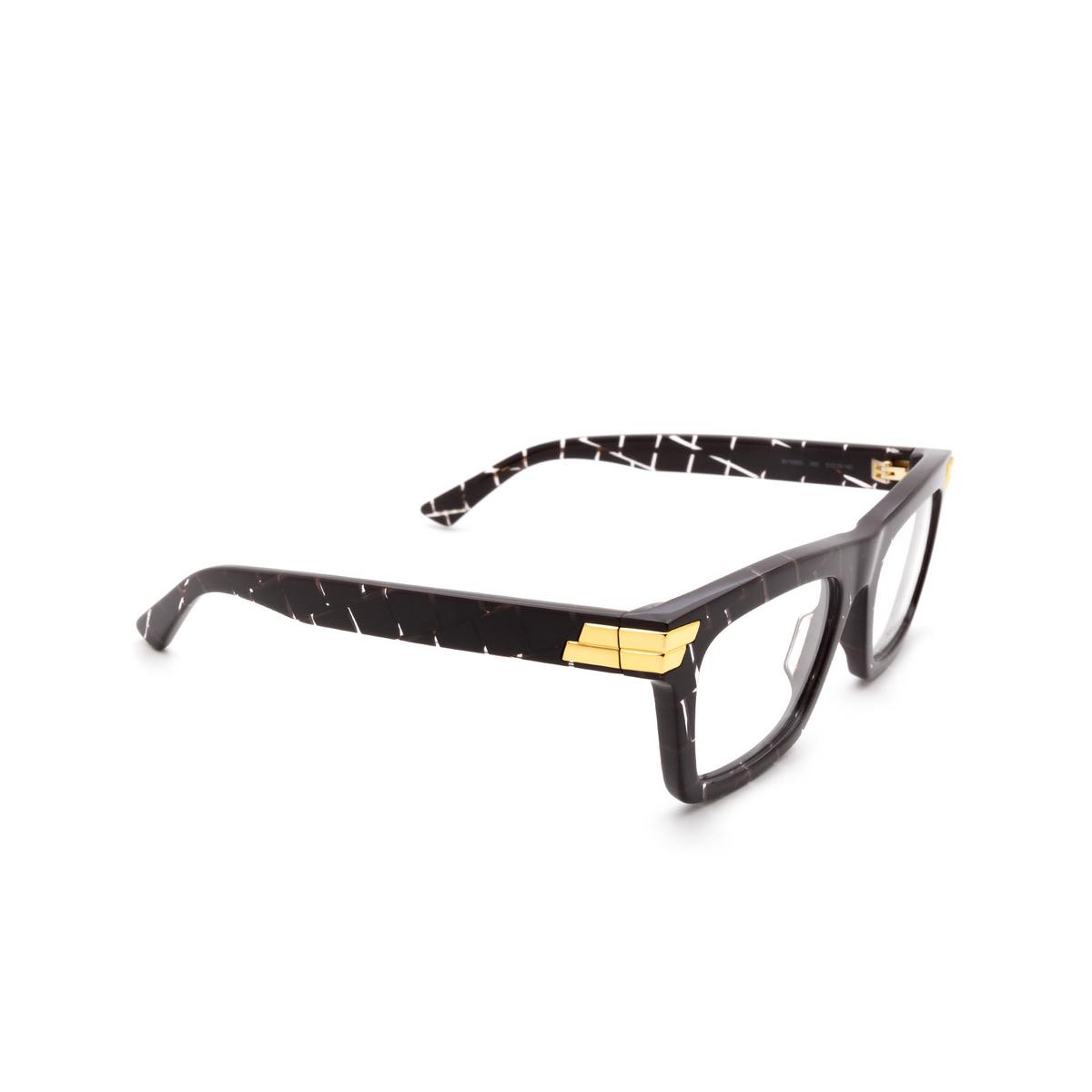 Bottega Veneta® Rectangle Eyeglasses: BV1059O color Burgundy 003.