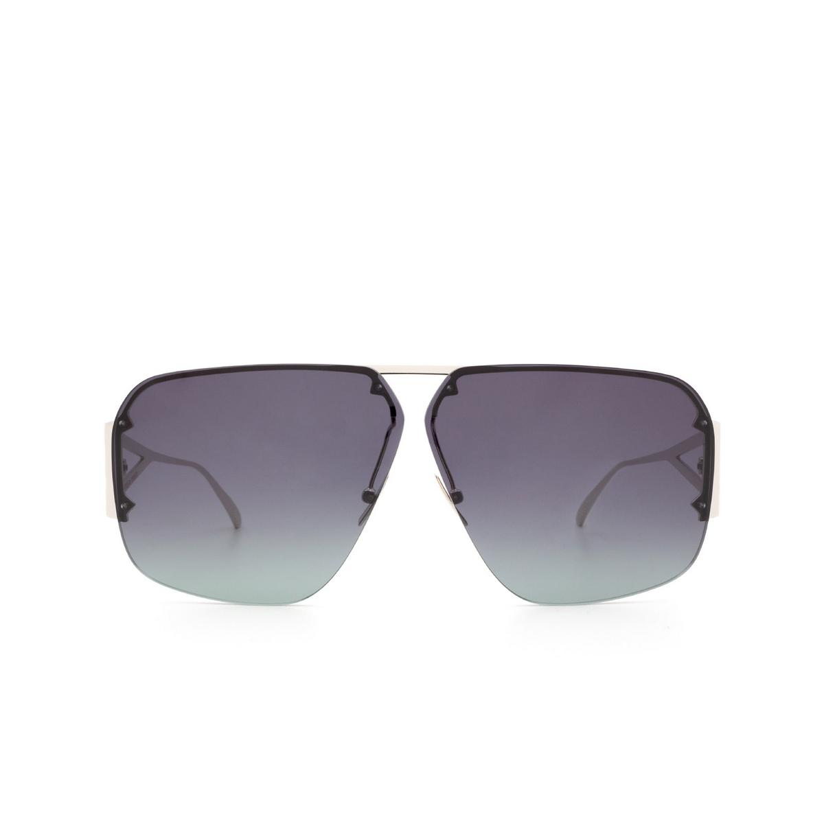 Bottega Veneta® Square Sunglasses: BV1065S color Silver 001 - front view.