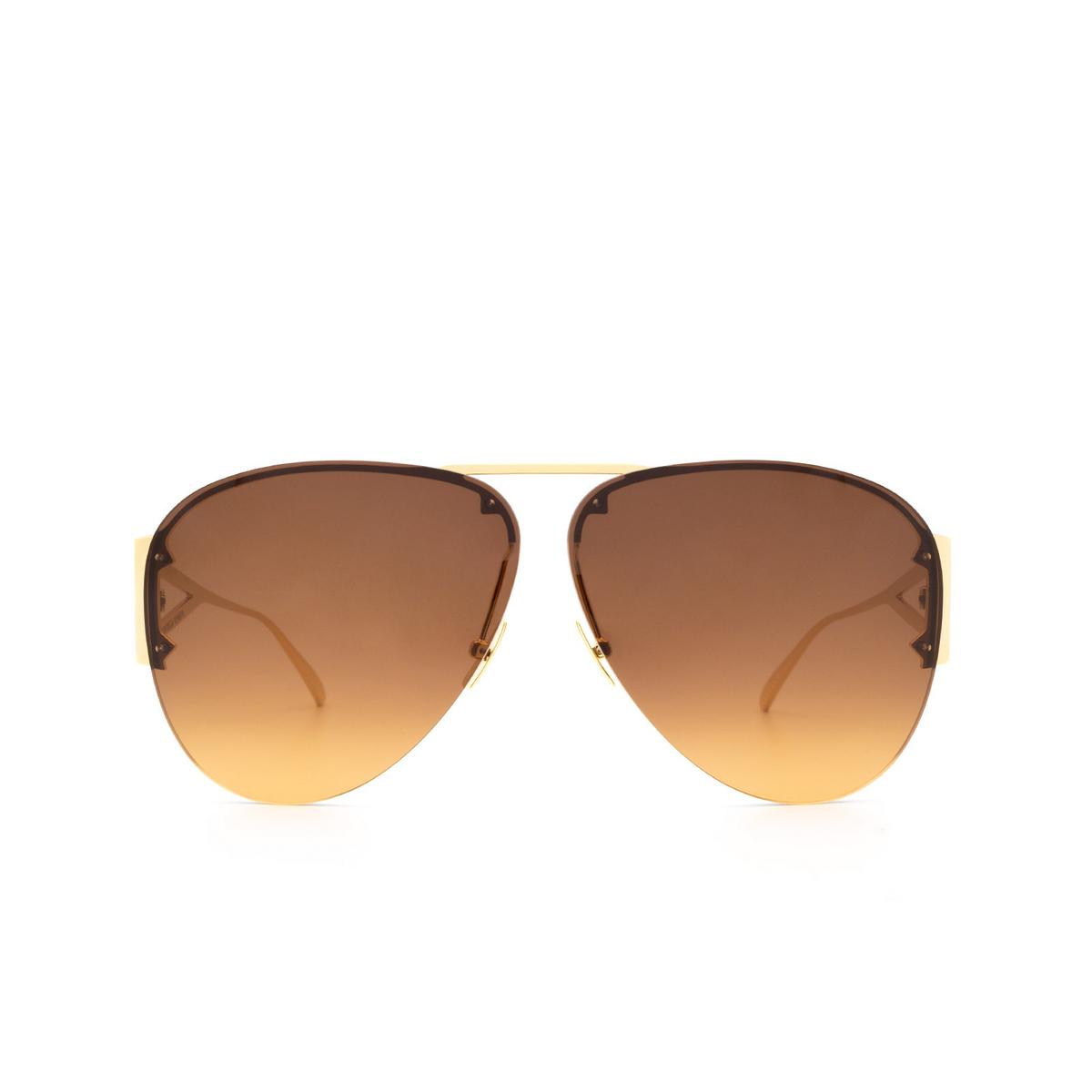 Bottega Veneta® Aviator Sunglasses: BV1066S color Shiny Gold Lv 002 - front view.