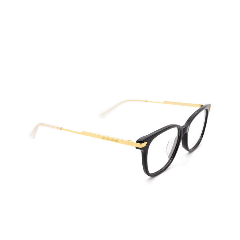 Bottega Veneta® Square Eyeglasses: BV1074OA color Black 001.