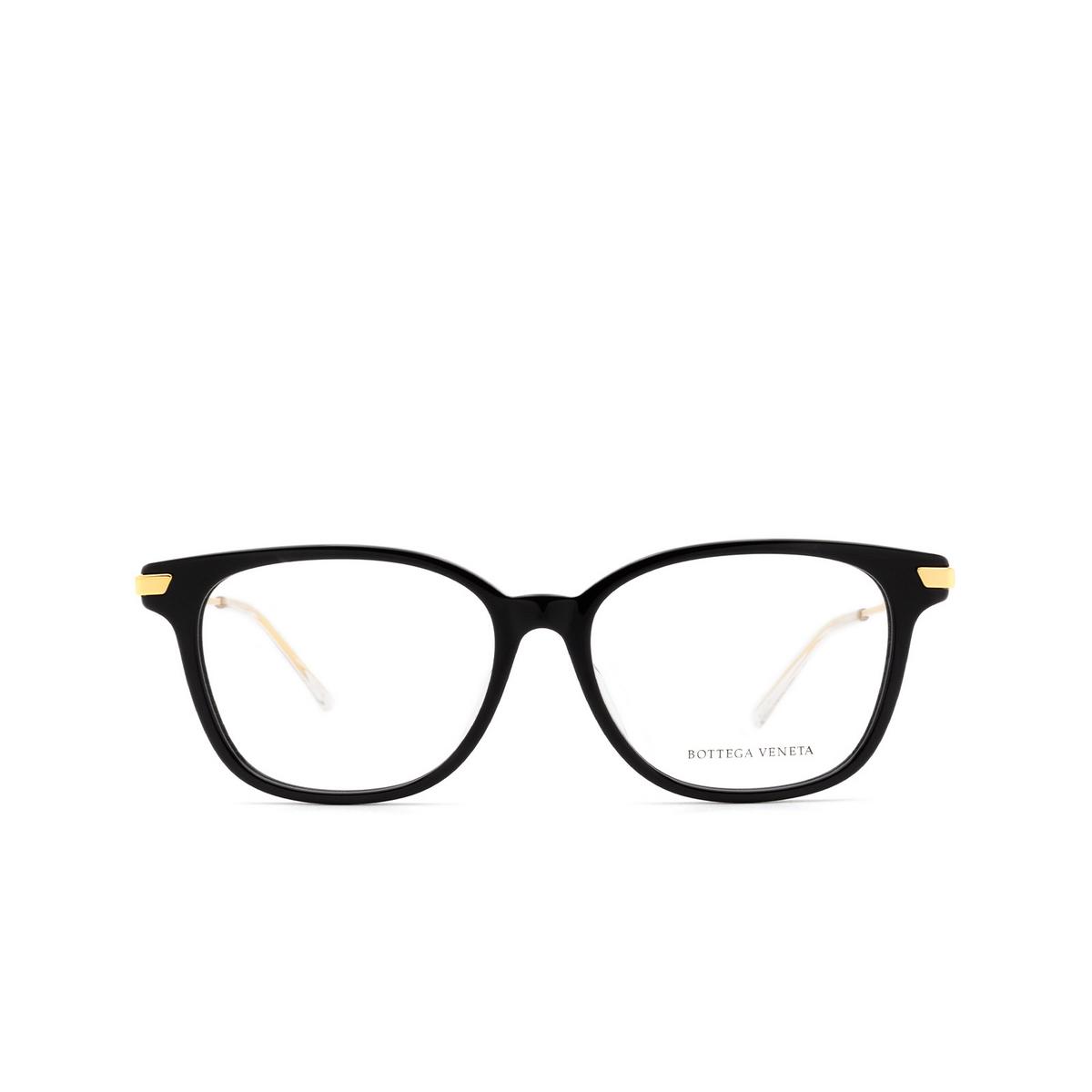 Bottega Veneta® Square Eyeglasses: BV1074OA color Black 001 - front view.