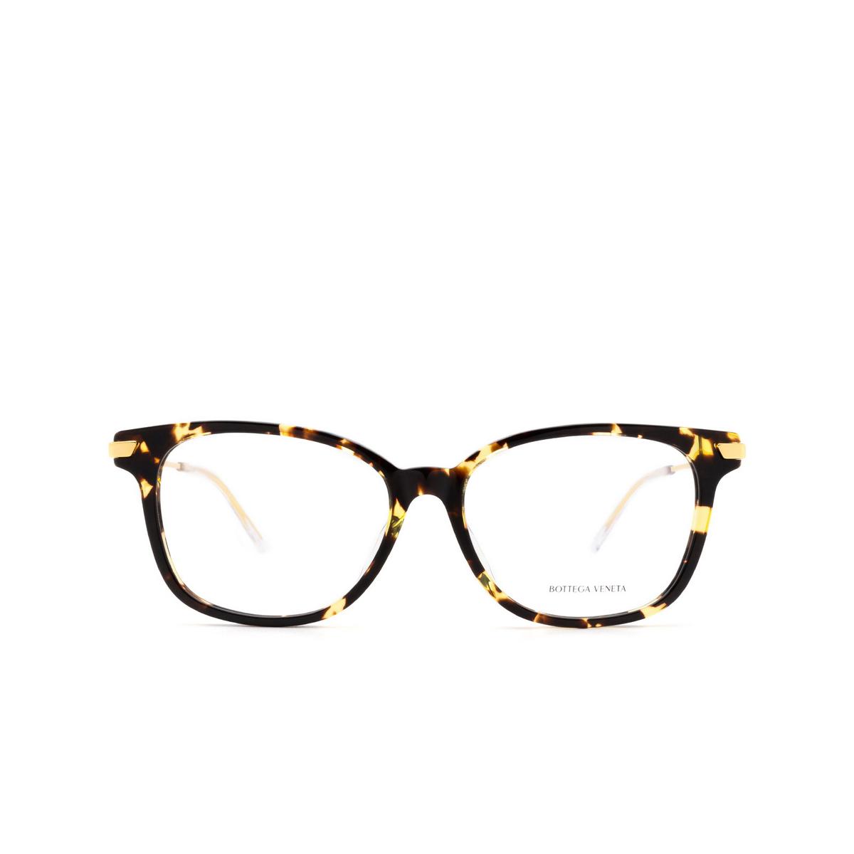 Bottega Veneta® Square Eyeglasses: BV1074OA color Havana 002 - front view.